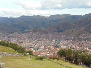 "View of Cusco from ""sexy woman"""