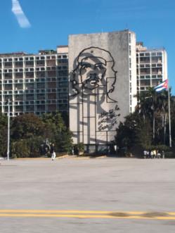 Che image at the Plaza de Revolucion