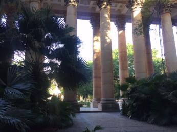 Interior University courtyard