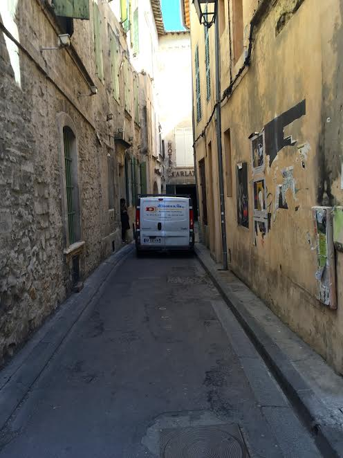 Driving is not easy on these narrow streets