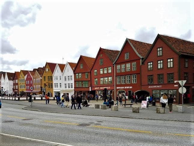 iconic Bryggen Hanseatic Wharf in Bergen