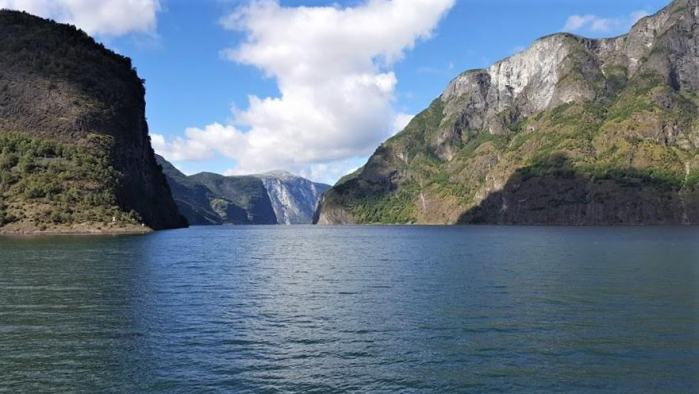 Stunning views of Aurlandsfjord on the Norway in a Nutshell tour