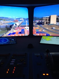 This exhibit allows you pull levers and steer the ship!
