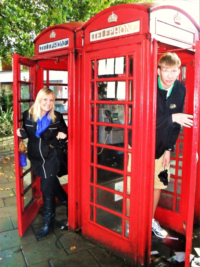The iconic red phone booths!