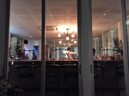 The gorgeous bar area