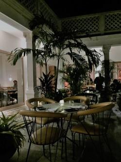 The relaxing courtyard