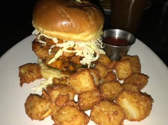 Chicken Sandwich with tater tots!