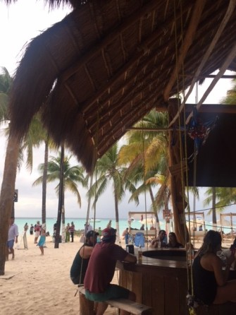Buho's Beach Restaurant & Bar – they even have swings at the bar!