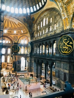 Inside the dome of the Hagia Sophia