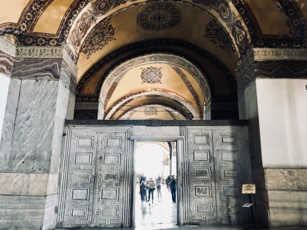The solid marble door