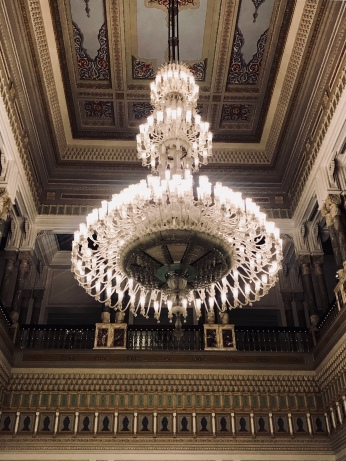 Chandeliers at the Palace