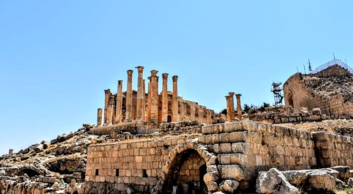 jerash - temple of zeus