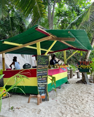 Drink stand on the beach